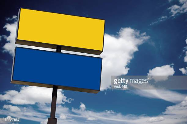 Advertisement sign #2 (With clipping path)