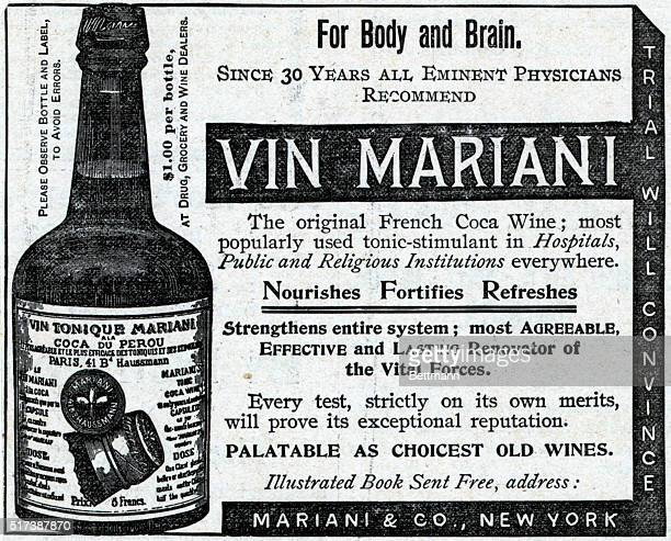 Vin Mariani The original French coca wine 1893 Harper's Weekly