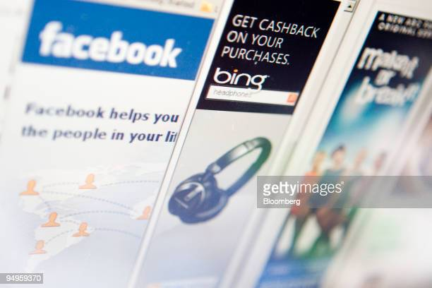 Advertisements on Facebook are displayed on a computer monitor in New York US on Monday June 22 Facebook Inc said the number of customers using its...