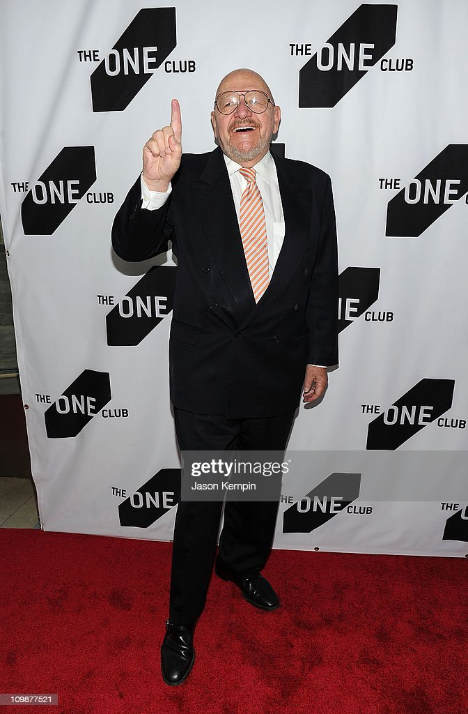 Advertising Executive Jerry Della Femina attends the 35th Annual One Show hosted by The One Club at Alice Tully Hall, Lincoln Center on May 13, 2010 in New York City.