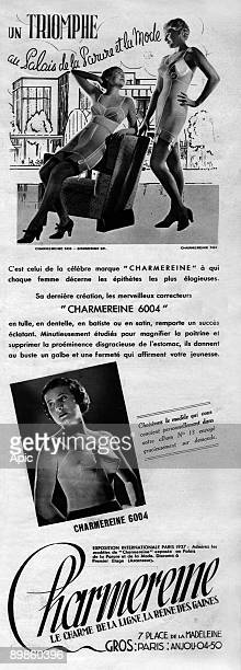 Advertising for corsets Charmereines October 1937