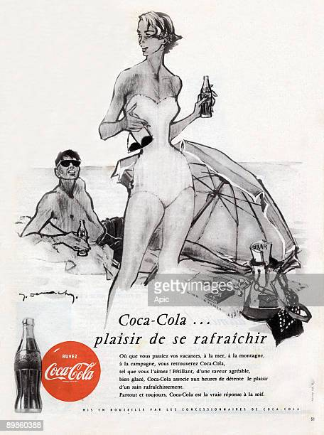Advertising for drinking Coca Cola in July 1954