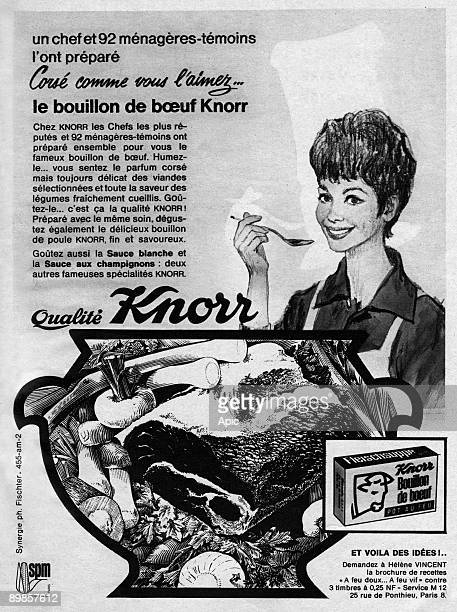 Advertising for Knorr Beef broth January 1962