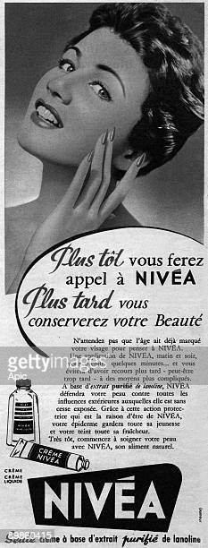 Advertising for Nivea creme June 1954