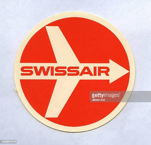 advertising label of swissair airline 50er Jahre
