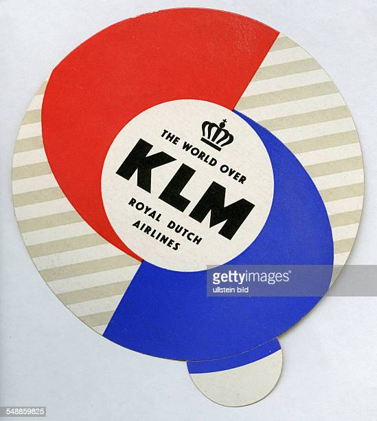 advertising label of the airline KLM 50er Jahre