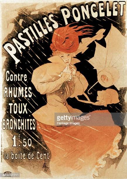 Advertising poster for Pastilles Poncelet a cold and bronchitis remedy 1896 Found in the collection of the State A Pushkin Museum of Fine Arts Moscow