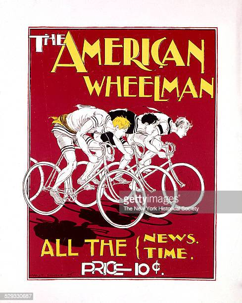 advertising poster for The American Wheelman 1896 Color print poster by Charles Searle