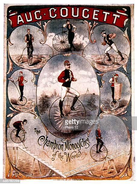 'The Champion monocyclist of the world' Sport Late 19th century