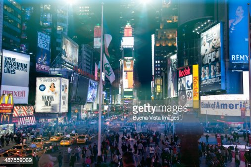 Advertising signs in Times Square