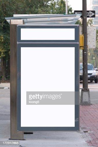 Espaço publicitário de Paragem de Autocarro