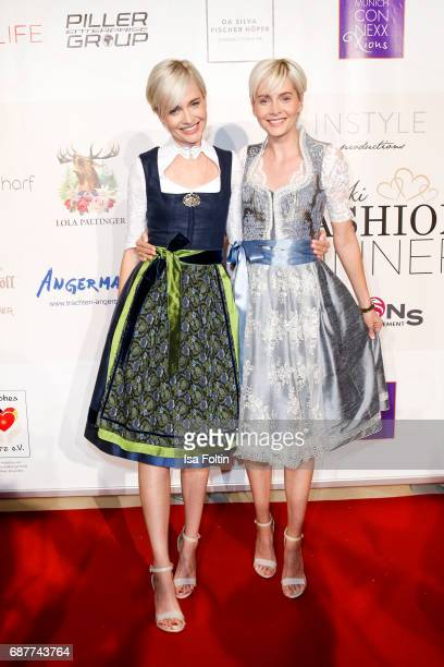 Advertising twins Julia Meise and Nina Meise attend the Kempinski Fashion Dinner on May 23 2017 in Munich Germany