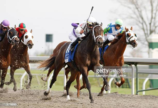 Advice ridden by Garrett Gomez won the Coolemore Lexington Stakes at Keeneland in Lexington Kentucky Saturday April 18 2009