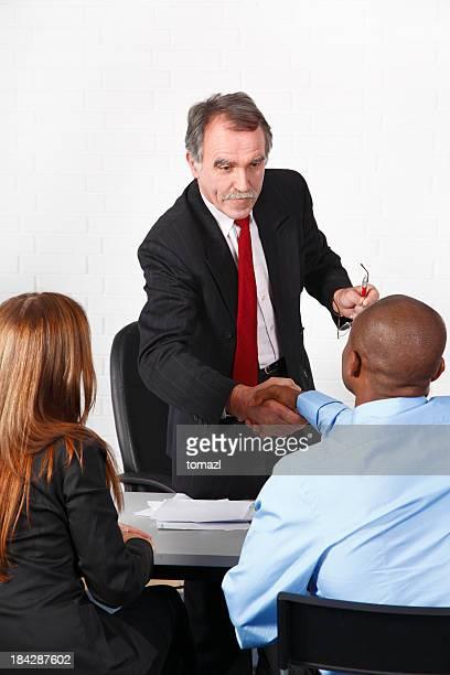 Advisor in his office