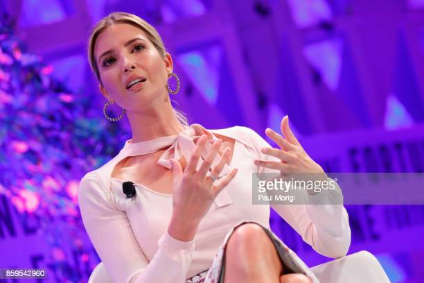 Advisor to the president Ivanka Trump speaks onstage at the Fortune Most Powerful Women Summit on October 9 2017 in Washington DC