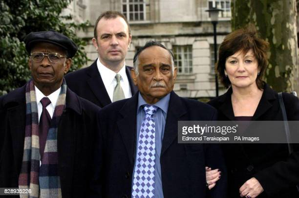Advisory Group member Asquith Gibbes Commander Steve Allen Head of Racial and Violent Crimes George Francis whose 17yearold son Gerry died in a house...