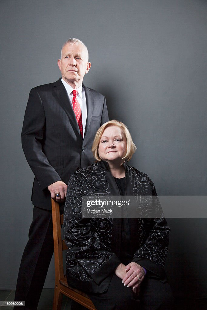 Advocates Dennis and Judy Shepard pose for a portrait at the Logo TV's 'Trailblazers' at the Cathedral of St John the Divine on June 25 2015 in New...