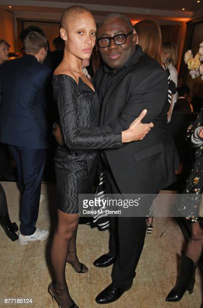 Adwoa Aboah and Edward Enninful attend Louis Vuittons Celebration of GingerNutz in Vogue's December Issue on November 21 2017 in London England
