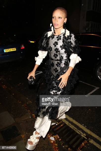 Adwoa Aboah attending the Edward Enninful dinner celebrating the December issue of British Vogue on November 7 2017 in London England