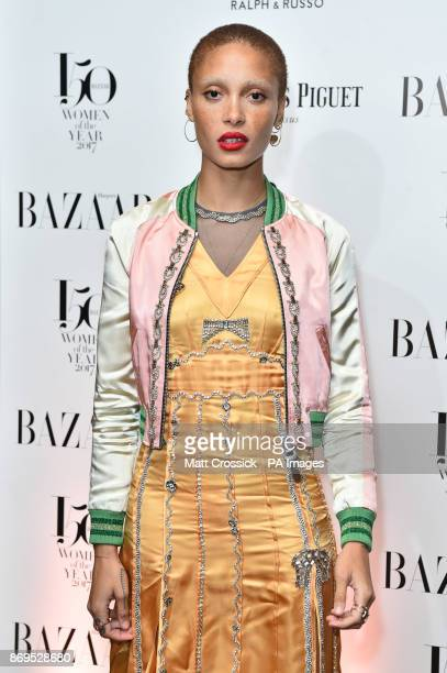 Adwoa Aboah attending the Harper's Bazaar Women of the Year Awards at Claridge's Hotel in London PRESS ASSOCIATION Photo Picture date Thursday...