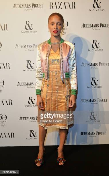 Adwoa Aboah attends Harper's Bazaar Women of the Year Awards 2017 Sponsored by Audemars Piguet on November 2 2017 in London England