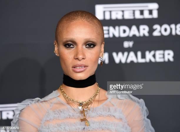 Adwoa Aboah attends the 2018 Pirelli Calendar Launch Gala at Manhattan Center on November 10 2017 in New York City / AFP PHOTO / ANGELA WEISS