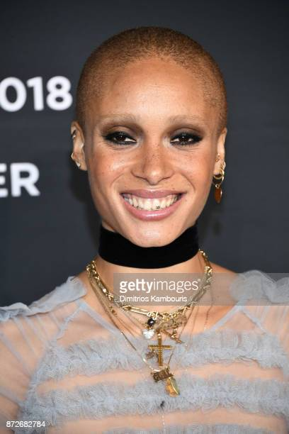 Adwoa Aboah attends the 2018 Pirelli Calendar Launch Gala at The Pierre Hotel on November 10 2017 in New York City