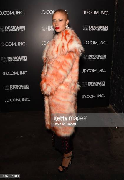 Adwoa Aboah attends the BFC Vogue Fashion Fund and JDCOM cocktail party hosted by Caroline Rush and Xia Ding at the Mandrake Hotel on September 18...