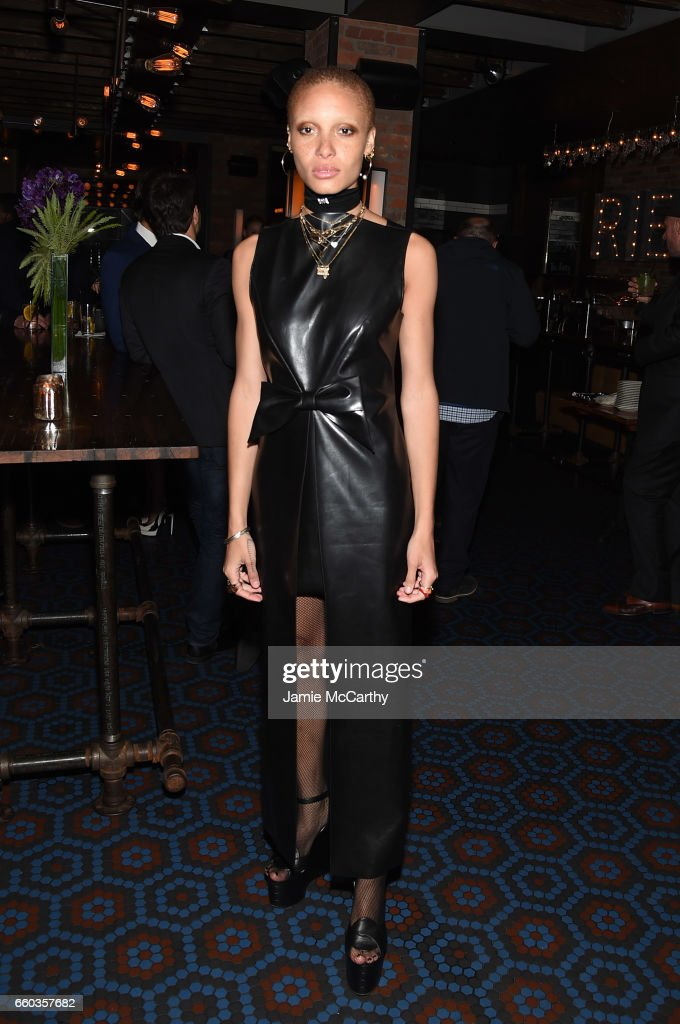Adwoa Aboah attends the 'Ghost In The Shell' premiere after party hosted by Paramount Pictures & DreamWorks Pictures at The Ribbon on March 29, 2017 in New York City.