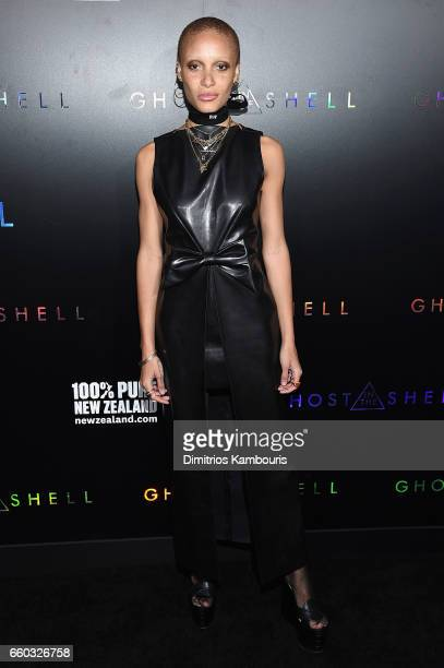 Adwoa Aboah attends the 'Ghost In The Shell' premiere hosted by Paramount Pictures DreamWorks Pictures at AMC Lincoln Square Theater on March 29 2017...