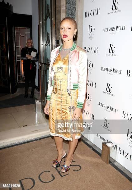 Adwoa Aboah attends the Harper's Bazaar Women of the Year Awards at Claridge's Hotel on November 2 2017 in London England
