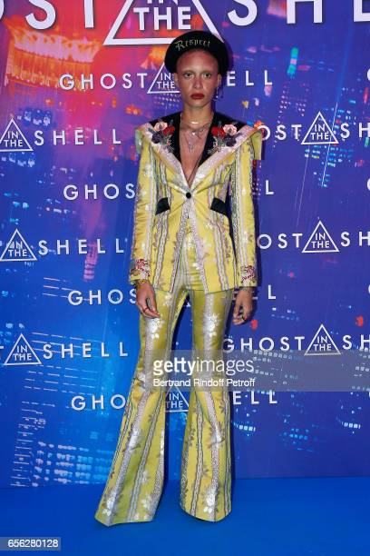 Adwoa Aboah attends the Paris Premiere of the Paramount Pictures release 'Ghost in the Shell' Held at Le Grand Rex on March 21 2017 in Paris France