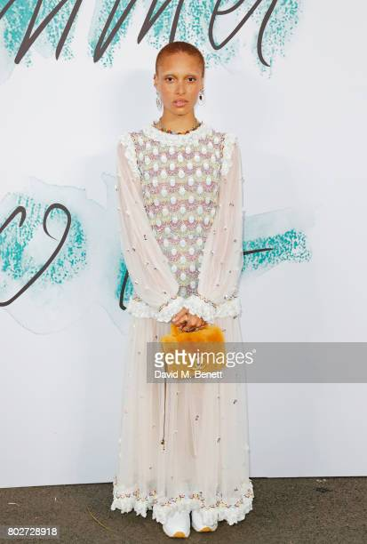 Adwoa Aboah attends The Serpentine Galleries Summer Party at The Serpentine Gallery on June 28 2017 in London England