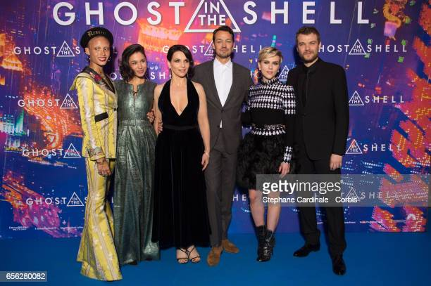 Adwoa Aboah Danusia Samal Juliette Binoche Rupert Sanders Scarlett Johansson and Pilou Asbaek attend the Paris Premiere of the Paramount Pictures...