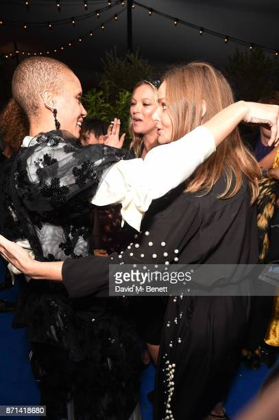 Adwoa Aboah Kate Moss and Stella McCartney attend a dinner hosted by Jonathan Newhouse and Albert Read for Edward Enninful to celebrate the December...