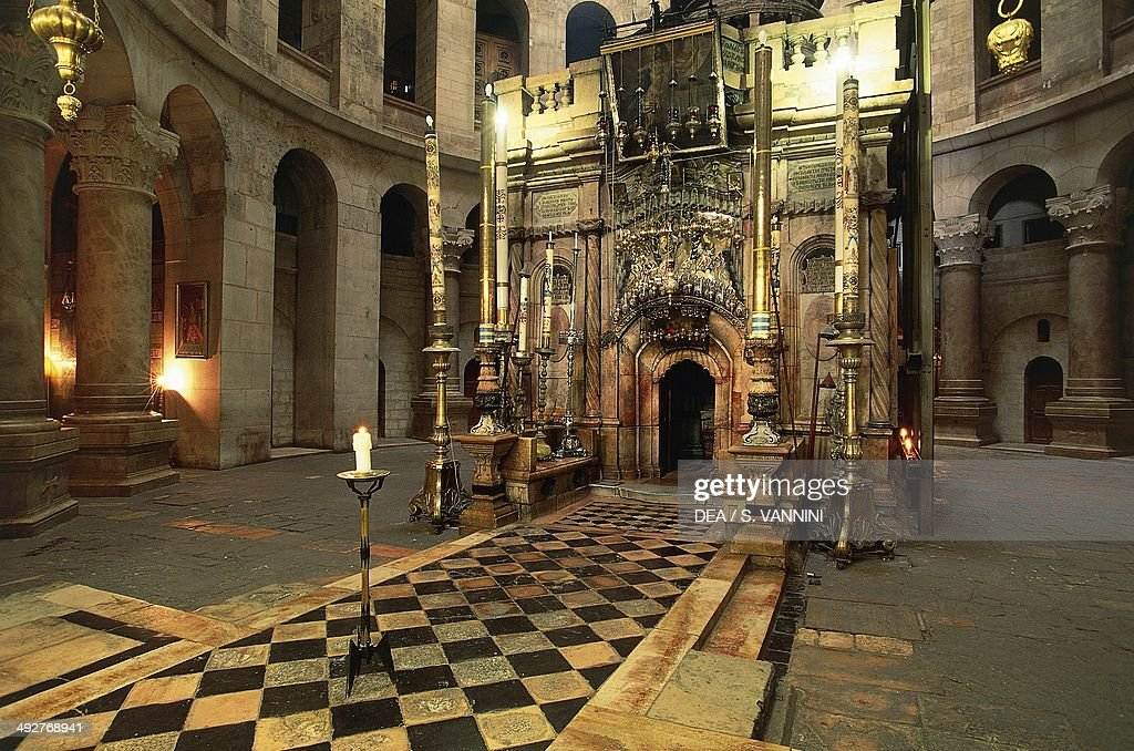 Aedicule of the Holy Sepulchre Church of the Holy Sepulchre or Church of the Resurrection Old City of Jerusalem Israel