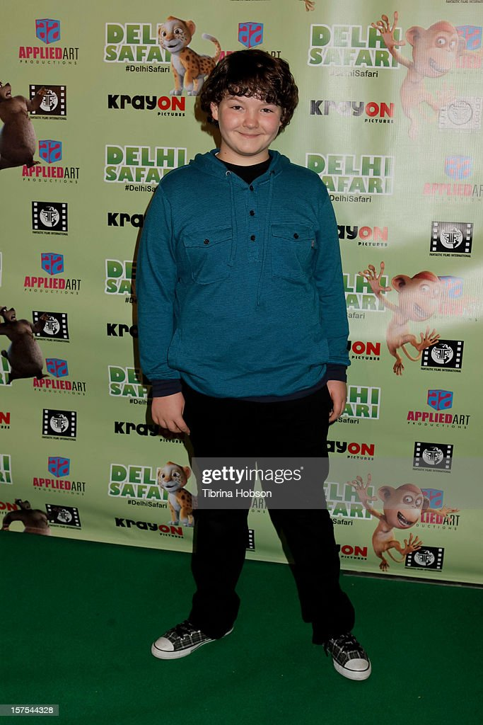 Aedin Mincks attends the Delhi Safari Los Angeles premiere at Pacific Theatre at The Grove on December 3, 2012 in Los Angeles, California.