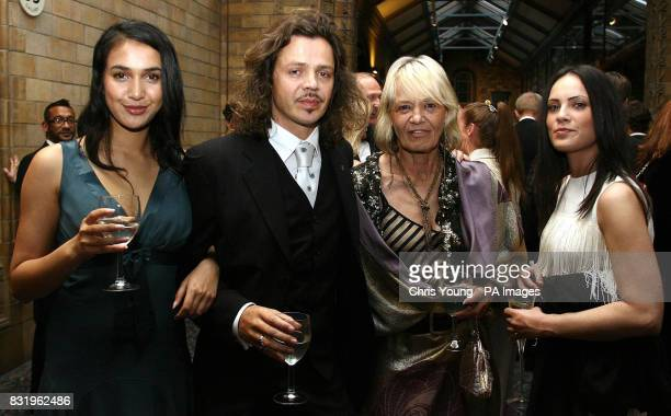Aegina de Vas Sacha Stone Anita Pallenberg and Roberta Caocci at a Royal Gala for the charity Mentor at the Natural History Museum in central London