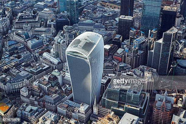 Aeial view of Walkie Talkie (20 Fenchurch Street)