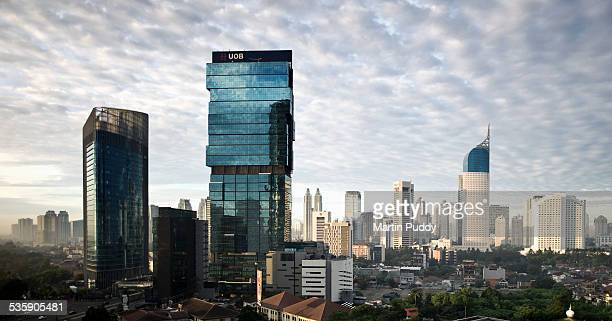 aElevated view of Jakarta's skyline