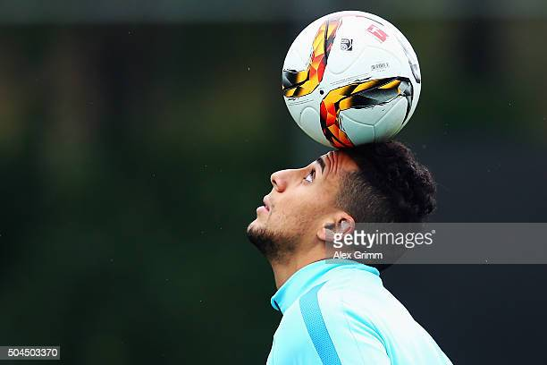 Aenis BenHatira juggles with the ball during a Hertha BSC Berlin training session on day 6 of the Bundesliga Belek training camps at Gloria Sports...