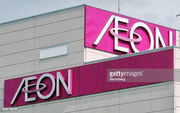 Aeon Co Ltd signs are pictured atop a AeonJusco department store in Tokyo Friday September 30 2005