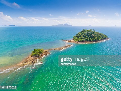 Aerail Beautiful view at tropical sea  in south thailand : Bildbanksbilder