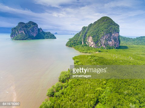 Aerail Beautiful view at tropical sea  in south thailand : Stock Photo