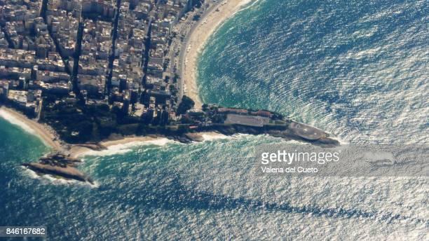 Aerial Arpoador and Copacabana Fort