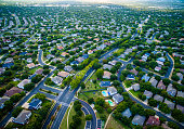 Aerial Austin Surburb Home Development Vast neighborhoods so many new homes are being built and the population of Central Texas is increasing dramatically