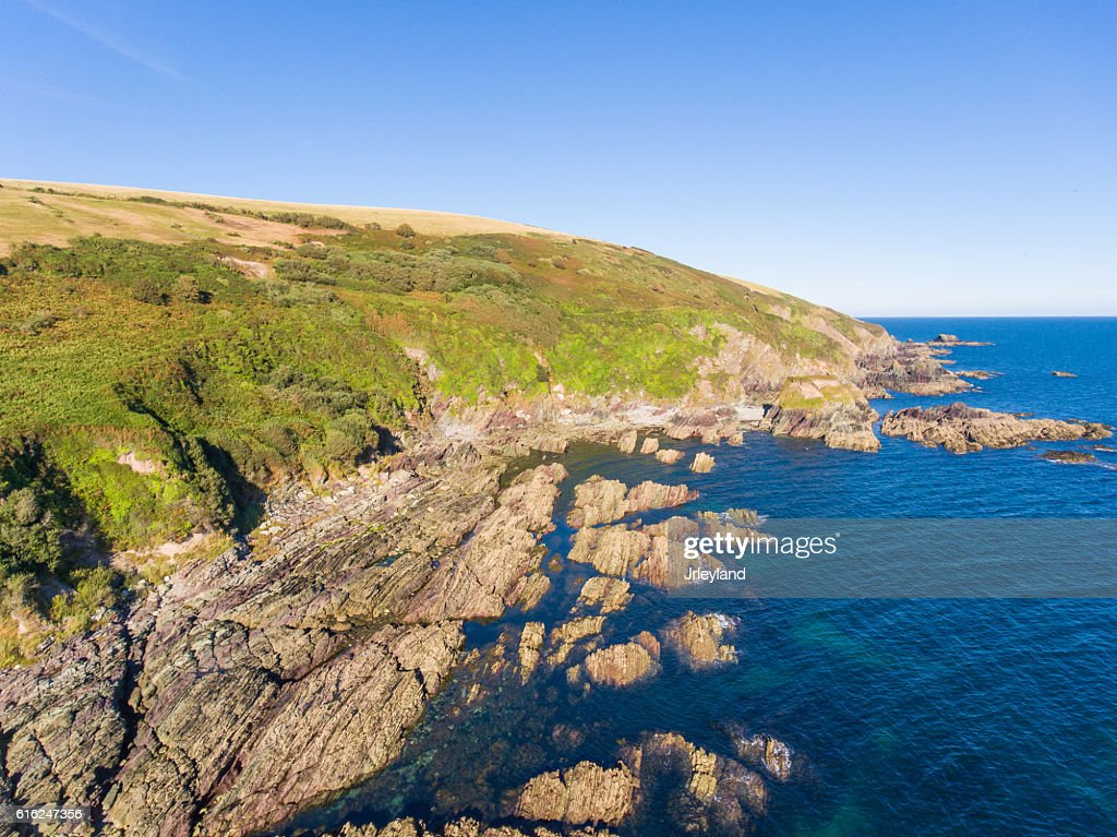 Aerial Coastline : Stock Photo