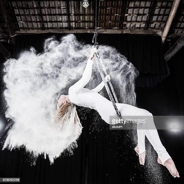 Vue aérienne de danse performances