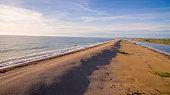 Summer scene of British Beach