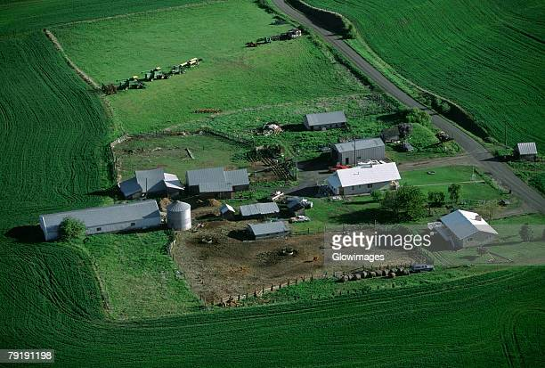 Aerial, farm country